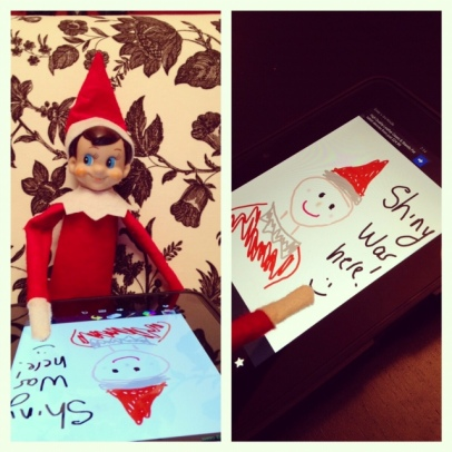 Elf on the Shelf - Ipad self portrait